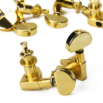 Three Pairs Sealed Guitar String Tuning Pegs Tuners Machine Heads 3L + 3R Gold - 3