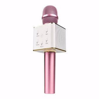 TUXUN Q7 Wireless KTV Karaoke Microphone Bluetooth Speaker(Pink)
