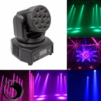 U'King 12 LEDs RGB Moving Head Stage Light 48W Moving Head Stage Effect Light 8-11CH DMX Master-slave Mode - intl Price Philippines