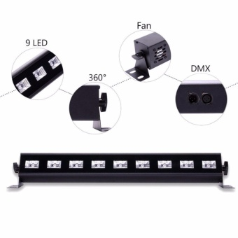 U`King 27W UV Black Light Stage Light 9LED Wall Wash light withRemote for Parties Halloween Club Party DJ Disco Metal HousingStage Effect Lighting - intl - 4