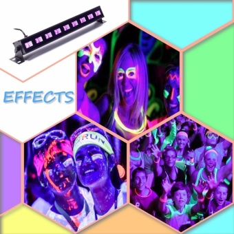 U`King 27W UV Black Light Stage Light 9LED Wall Wash light withRemote for Parties Halloween Club Party DJ Disco Metal HousingStage Effect Lighting - intl - 2