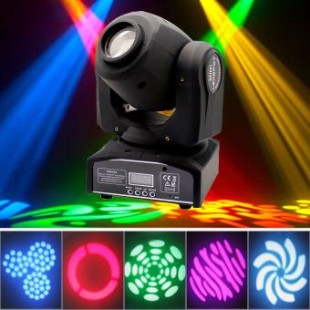 U`King 30W Stage Light Moving Head Light Stage Lighting LED Spot Colorful Light with 7/10 Channel for Party Disco DJ Show KTV DMX-512 (Black) - intl