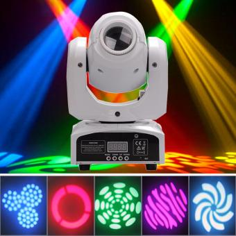 U`King 30w Stage Light Moving Head Light Stage Lighting LED Spot Colorful Light with 7/10 Channel for Party Disco DJ Show KTV DMX-512 (White) - intl Price Philippines
