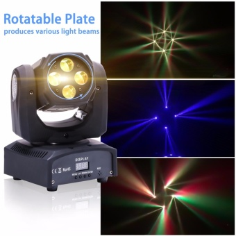 U`King 60W Moving Head Stage Light RGBW 4in1 Beam Lighting Spotlight Stage Light for Party Disco Stage Karaoke Club Bar Wedding Holiday Dance DJ House - intl