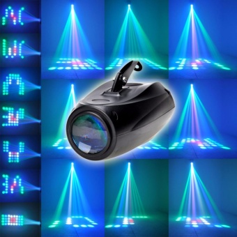 U`King RGBW Pattern Stage Light 64 LEDs Auto and Voice-activated Moonflower Projector Lighting for DJ Party Wedding Events Club - intl