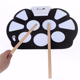 W758 Digital Portable 9 Pad Musical Instrument Electronic Roll-up Drum Kit - 2