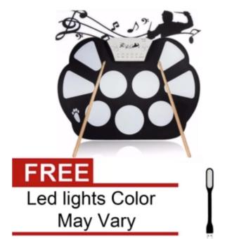 W758 Digital Portable 9 Pad Musical Instrument Electronic Roll-upDrum Kit with USB Led Lights Color May Vary Price Philippines