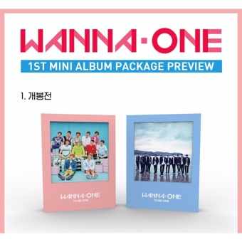 WANNA ONE - 1x1=1 (TO BE ONE) [Sky ver.] (1st Mini Album) CD +Folded Poster + Free Gift - intl - 2