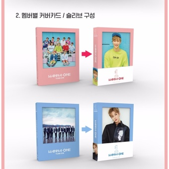 WANNA ONE - 1x1=1 (TO BE ONE) [Sky ver.] (1st Mini Album) CD +Folded Poster + Free Gift - intl - 3