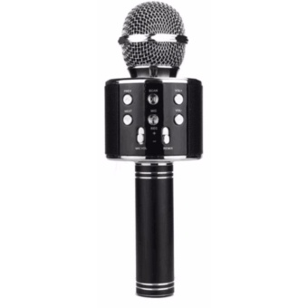 WS-858 NEW Karaoke Microphone and Wireless Bluetooth Hi-Fi Speaker (Black)