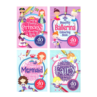 WS My Coloring Book For Girls Set Of 4