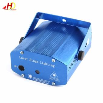 YX09 Mini LED Red & Green Laser Projector Stage Lighting with Tripod (Blue) - 2