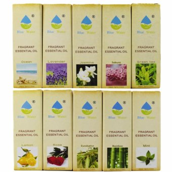 10ml Set of 10 Aromatherapy Essential Oils for Humidifier, Coolmist etc.(Ocean,Lavender,Sakura,GreenTea,Lemon,Rose,Eucalyptus,Bamboo,Mint)