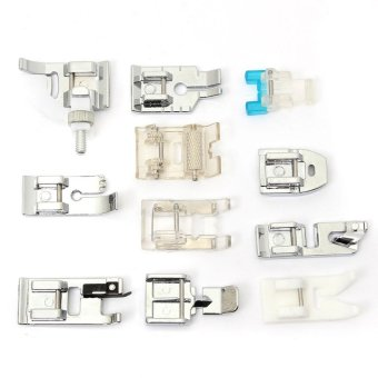 11pcs Presser Foot Feet For Brother Singer Janome Domestic Sewing Machine - intl