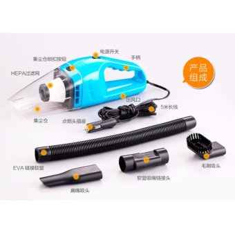 12V Portable Car Vehicle Vacuum Cleaner Wet And Dry Dual Use VacuumCleaner - intl