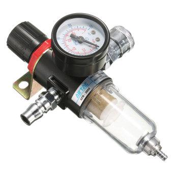 1/4'' Air Compressor Filter Moisture Water Separator Trap Tools Regulator Gauge - 2