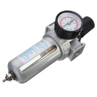 1/4'' BSP Air Filter Separator w/ Regulator Gauge Water Trap For Air Compressor - 5