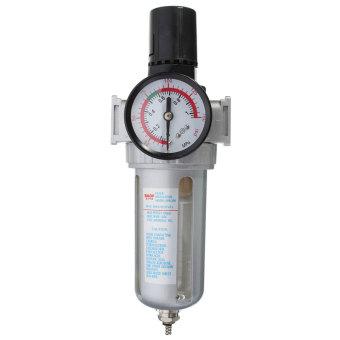 1/4'' BSP Air Filter Separator w/ Regulator Gauge Water Trap For Air Compressor - 4