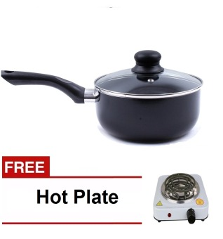 16cm Non-Stick Sauce Pan with Free 1010b hot plate