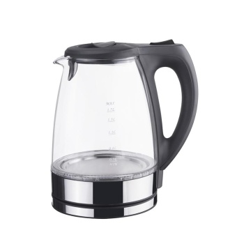 1.7L Glass Electric Kettle Auto Shut Off LED Illuminating Water Kettle with US Plug (Blue Light) - intl