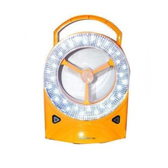 2 in 1 Rechargeable LED Light with Fan, Set of 2 (Yellow) - picture 2