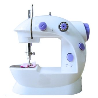 2 Speed Mini Electric Sewing Machine Kit (White/Lavender)