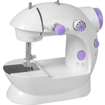 2-Speed Mini Electric Sewing Machine Kit (White/Lavender)