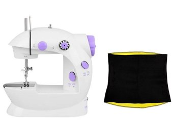 2-Speed Mini Electric Sewing Machine Kit (White/Lavender) with HotShaper Wonen's Shapwear S/M Price Philippines
