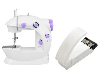 2-Speed Mini Electric Sewing Machine Kit (White/Lavender) with MiniHousehold Vacuum Food Sealer Machine