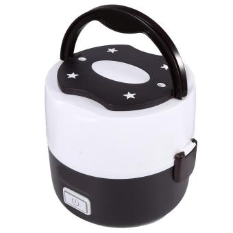 220V 2 Layers Electric Heated Lunch Box (Coffee) - intl