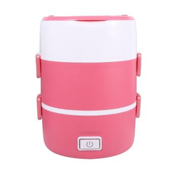 220V 3 Layers Electric Heated Lunch Box (Pink) - intl - 2