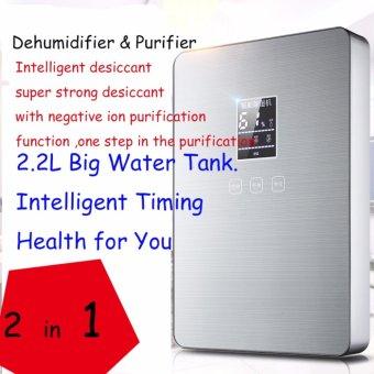 2.2L Intelligent LCD Dehumidifier & Air Purifier 110W ElectricQuiet Air Dryer 220V 50HZ Air Dehumidifier