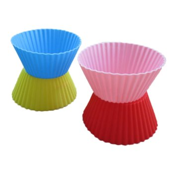 24Pcs Soft Silicone Cake Muffin Chocolate Cupcake Liner Baking Cup Mold