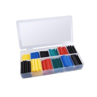 280Pcs Assortment Heat Shrink Tube Tubing 2:1 Size Sleeving WrapWire Cable Kit - intl