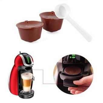 2X Refillable Reusable Coffee Capsule Pods Cup for Nescafe DolceGusto Machine - intl