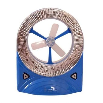 3-in-1 Rechargeable LED Light with Fan Torch White/Blue