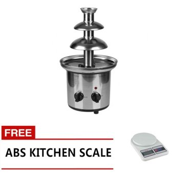 3-Layered Chocolate Fountain with Free Kitchen Scale