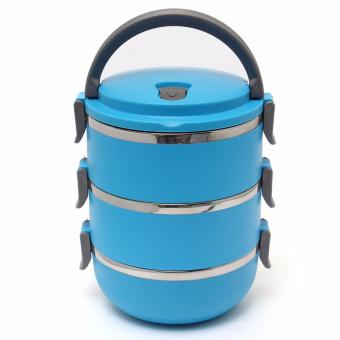 3 Layers Stainless Steel Lunch Box Thermal Insulated Handle