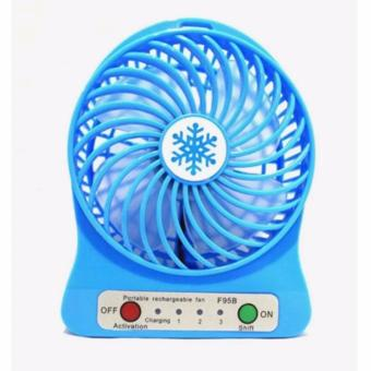 3-Speed Mini Portable Rechargeable Fan (Blue)