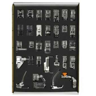 32 pcs Low Shank System Sewing Machine Presser Feet Set HouseholdItem Services Tool Sundries Home Accessory