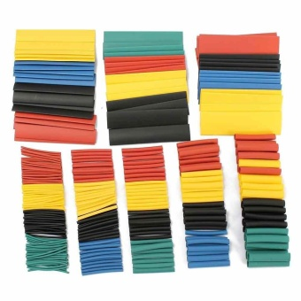 328Pcs Car Electrical Cable Heat Shrink Tube Tubing Wrap WireSleeve With Box - intl
