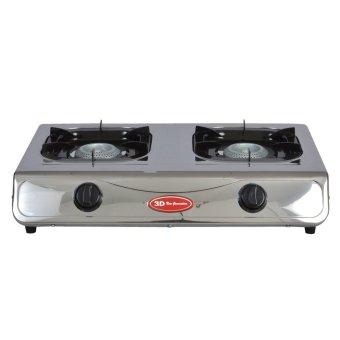 3D GS3000 2 Burner Gas Stove (Silver)