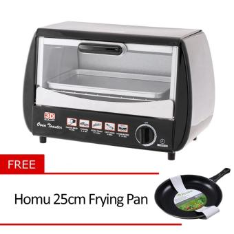 3D OT-707 Oven Toaster with Free Homu 25cm Frying Pan