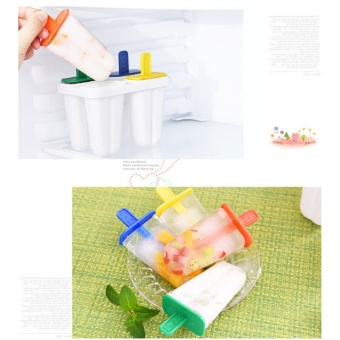 4 popsicle mold Take care of square box ice cream box ice ice creamhomemade popsicle mold model - intl Price Philippines