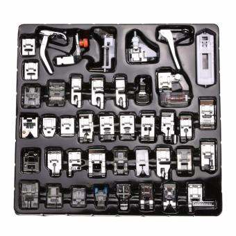 42pcs Domestic Sewing Machine Presser Foot Set Handheld PresserFeet Kit for Brother Singer White Low Shank Sewing Machines - intl