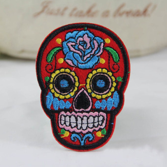 5PC DIY Skull Patch Patch Embroidered Cloth Iron On Patch SewFabric Badges - intl