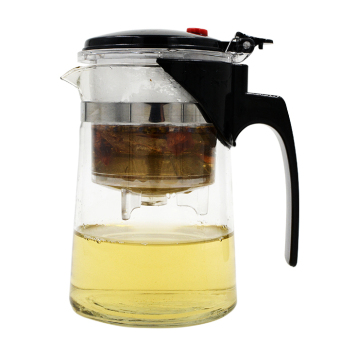 600ml Straight Heat-resistant Glass Teapot Pot Black Tea Mug OolongTea Cup Water Bottle