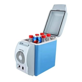 7.5L Portable Mini Car Fridge Vehicle Electric Cooler WarmerRefrigerator Fridge Auto Supply with free Lazy Stant
