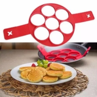 7Holes Silicone Perfect Pancakes Pan Breakfast Maker Egg FlippinFantastic - intl