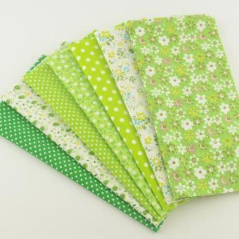 7pcs/set 50cmx50cm Green Cotton Fabric Fat Quarter Bundle Floral Craft Tilda Fabric for Sewing Telas - intl - 2